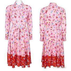 Nanette Lepore Floral Button Down Pleated Dress